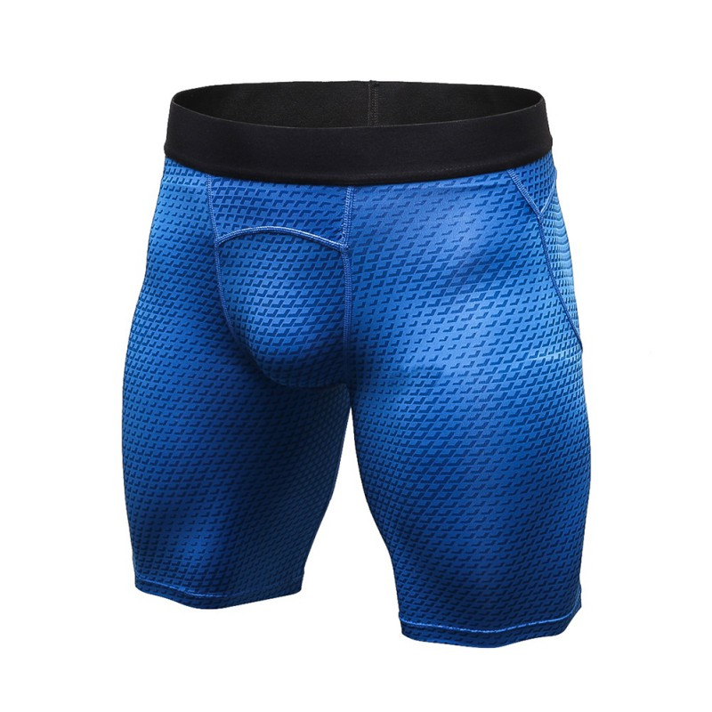 New Mesh Men's Shorts Bodybuilding Tight Elastic Compression 2018 Summer Tight Shorts Fitness Clothing Wicking Short Pant Homme
