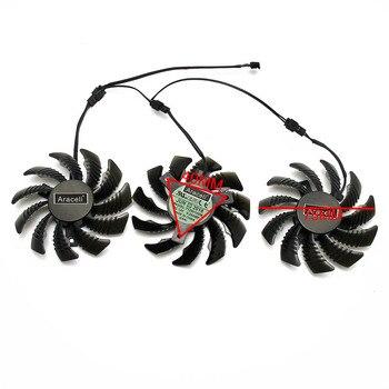 3pin T128010SM PLD08010S12H Pour Gigabyte GV-N970WF3OC-4GD GTX970 Carte Graphique Ventilateur De Refroidissement Pas 4.0 Diamètre 7.5 Cm