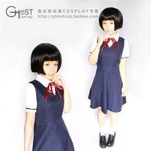 Kokkuri san ichimatsu kohina cosplay anime japonés uniforme de halloween 3 in1 dress + blusa + tie