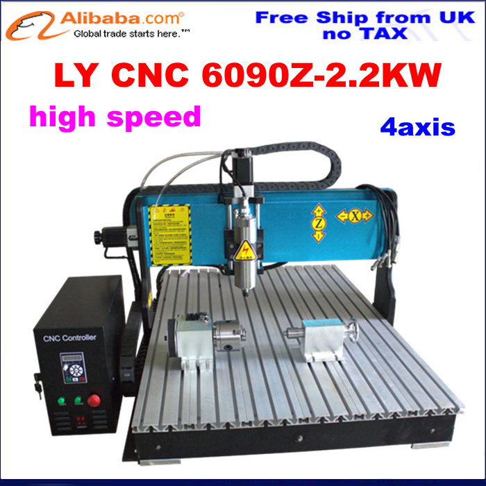 Ship From Uk Best Factory Version High S D  4 Axis Cnc Router Carving Woodworking Machine For Aluminumcopper In Wood Routers From Tools On
