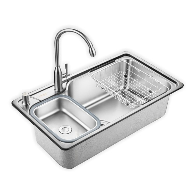 oversize 304 stainless steel kitchen sink Increase thickness ...