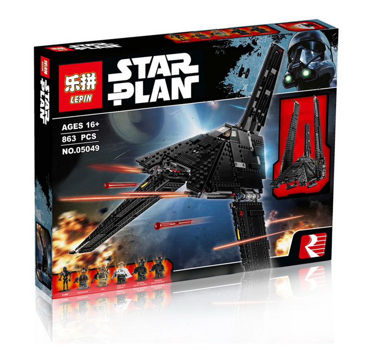 2016 New LEPIN 05049 863Pcs Star Wars Krennic's Imperial Shuttle Model Building Kit Blocks Bricks Compatible Children Toy 75156 new lepin 22001 pirate ship imperial warships model building kits block briks toys gift 1717pcs