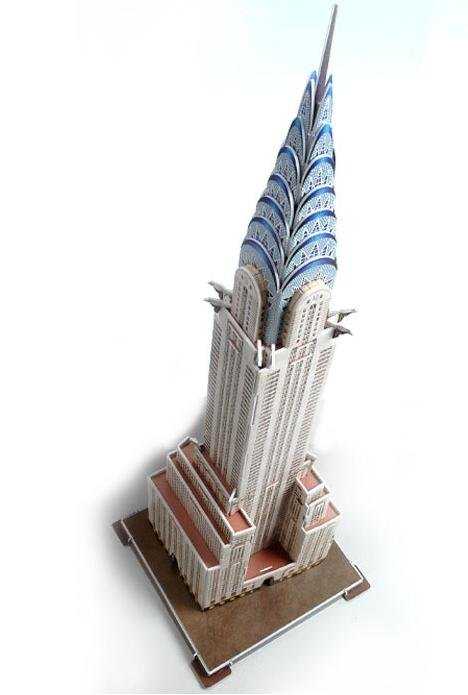 Free shipping, Chrysler building ,three dimensional puzzle