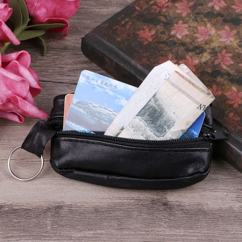 Girls Women Key Ring Wallet Pouch Coin Card Mini Purse Zipper Small Change Bag