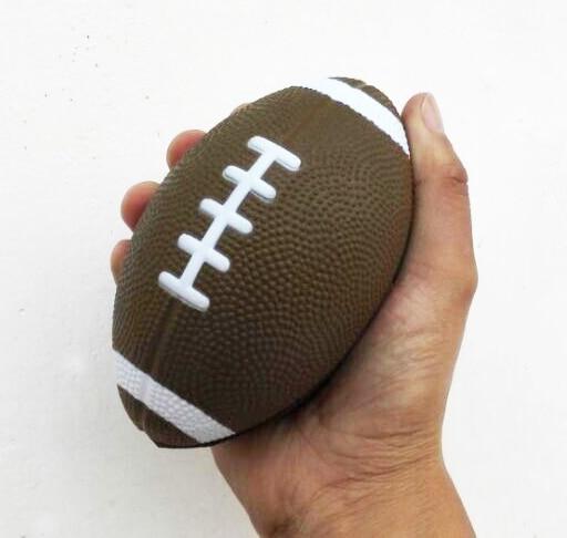 3pcs Lot 13 8cm Pu Foam Material Soccer Stress Toy Rugby Anti