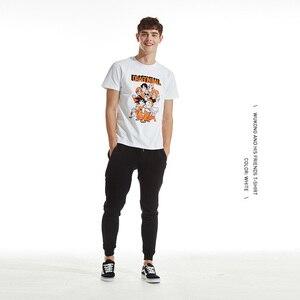 Image 4 - Tee7 גברים סיבתי קצר שרוול T חולצה דרקון כדור כותנה אופנה למעלה סון גוקו מודפס חולצות חולצות זוגות Cartoon טי