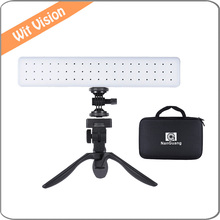 NanGuang CN-T80C Handheld Fill-in Camera Iluminação Fotográfica LED Luz de Vídeo Do Carro 3200 K-5600 K para o Casamento Filme Que Faz A entrevista