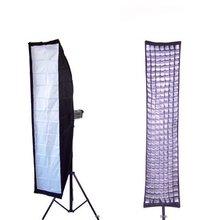 """14 """"x 63"""" pulgadas (35×160 cm) pele Softbox Caja Suave Tanque de 40 Grados Caja de Huevos Speedring para Bowens Flash de Estudio Luz de Rejilla"""