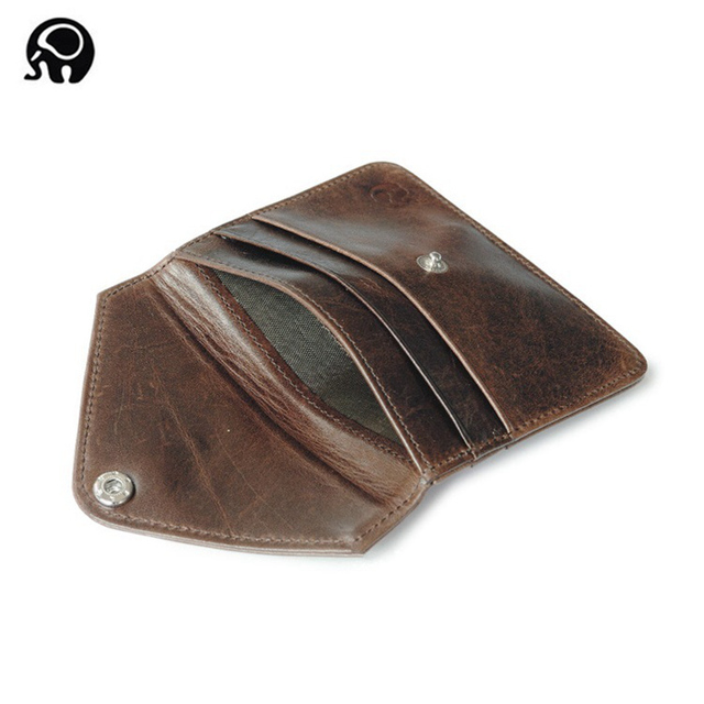 73505c3ffb0f US $9.9 |Convenient Card Wallet Men Leather Hasp Credit Card Case Small  Women Coin Cash Pocket Thin Card Pack Business Bank Card Holder-in Card &  ID ...