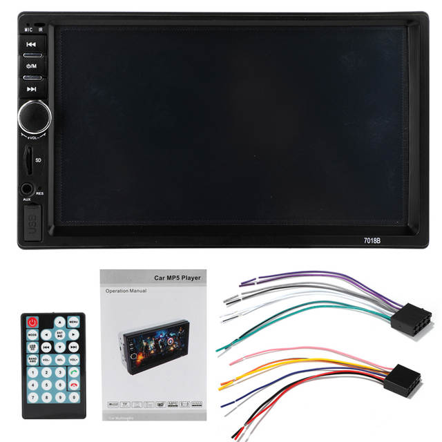 Double 2 Din 7018B Autoradio Car Mp5 Radio Player 7