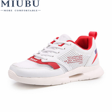 MIUBU 2019 Spring Fashion Women Casual Shoes Suede Leather Platform Sneakers