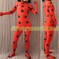 Kid Adult Free YOYO Earring High Quality Tailored Miraculous Ladybug Cosplay Costume Marinette Costume Ladybug Suit