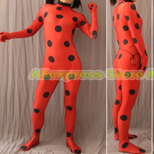 Kid Adult Free YOYO Earring High Quality Tailored Miraculous Ladybug Cosplay Costume Marinette Costume Ladybug Suit