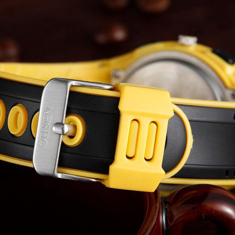 OHSEN Marca de Moda Reloj de Goma Hombres Deporte Impermeable 30 M - Relojes para hombres - foto 4