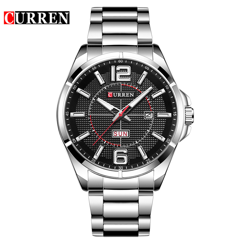 CURREN Brand Mens Watches Luxury sport Quartz 30M waterproof watch men stainless steel band auto date wristwatches relojes 8271 mce top brand mens watches automatic men watch luxury stainless steel wristwatches male clock montre with box 335