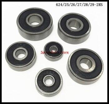 5-10 sztuk/partia 624-2RS/625-2RS/626-2RS/627-2RS/628-2RS/629-2RS gumowe uszczelnione łożysko kulkowe miniaturowe łożyska