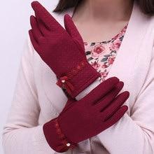 2019 New Woman Gloves Autumn Winter Plush Lined Thicken Keep Warm Touch Screen Design Female Driving Mittens XSS11 стоимость