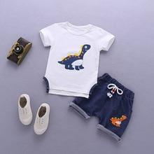 Bibicola nova bebê meninos roupas de verão conjuntos de roupa dos desenhos animados da criança bebe roupas top + calça 2 pcs set kidscasual meninos terno do esporte