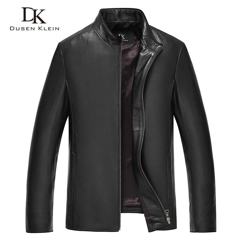 Мужские кожаные куртки Дюсенов Klein Новое поступление простые кожаные пальто тонкий/Повседневное бизнес мужской кожи одежда овчины DK7101