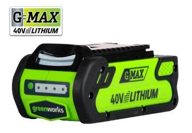 GreenWorks 29472 G-MAX 4 AH Li-Ion, 40V 4amp G-MAX Battery High Quality ECO Lithium Battery For Various Products Of Greenworks