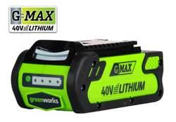 GreenWorks 29472 G-MAX 4 AH Li-ion batería de litio ECO de alta calidad 40V 4amp G-MAX para varios productos de Greenworks