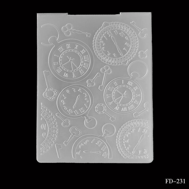 NEW Arrivel Clocks And Watches DIY Cutting Dies Scrapbooking Plastic Embossing Folder  For Scrapbooking Photo Album Paper Craft