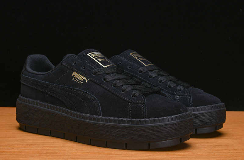 2d415c08b381 Free shipping PUMA FENTY Suede Cleated Creeper Women s First Generation  Rihanna Classic Basket Suede Tone Simple
