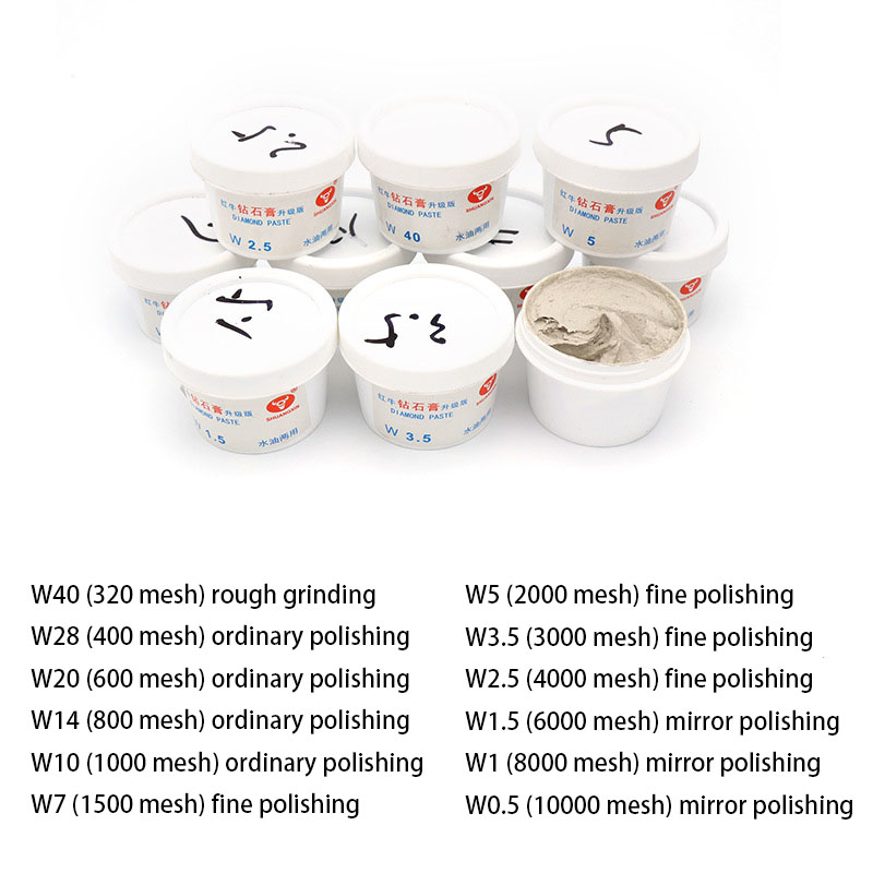 1pcs Red Bull Diamond Grinding Diamond Paste Metal Mold Stainless Steel Jade Sharpening Polishing Paste Water And Oil Dual-use