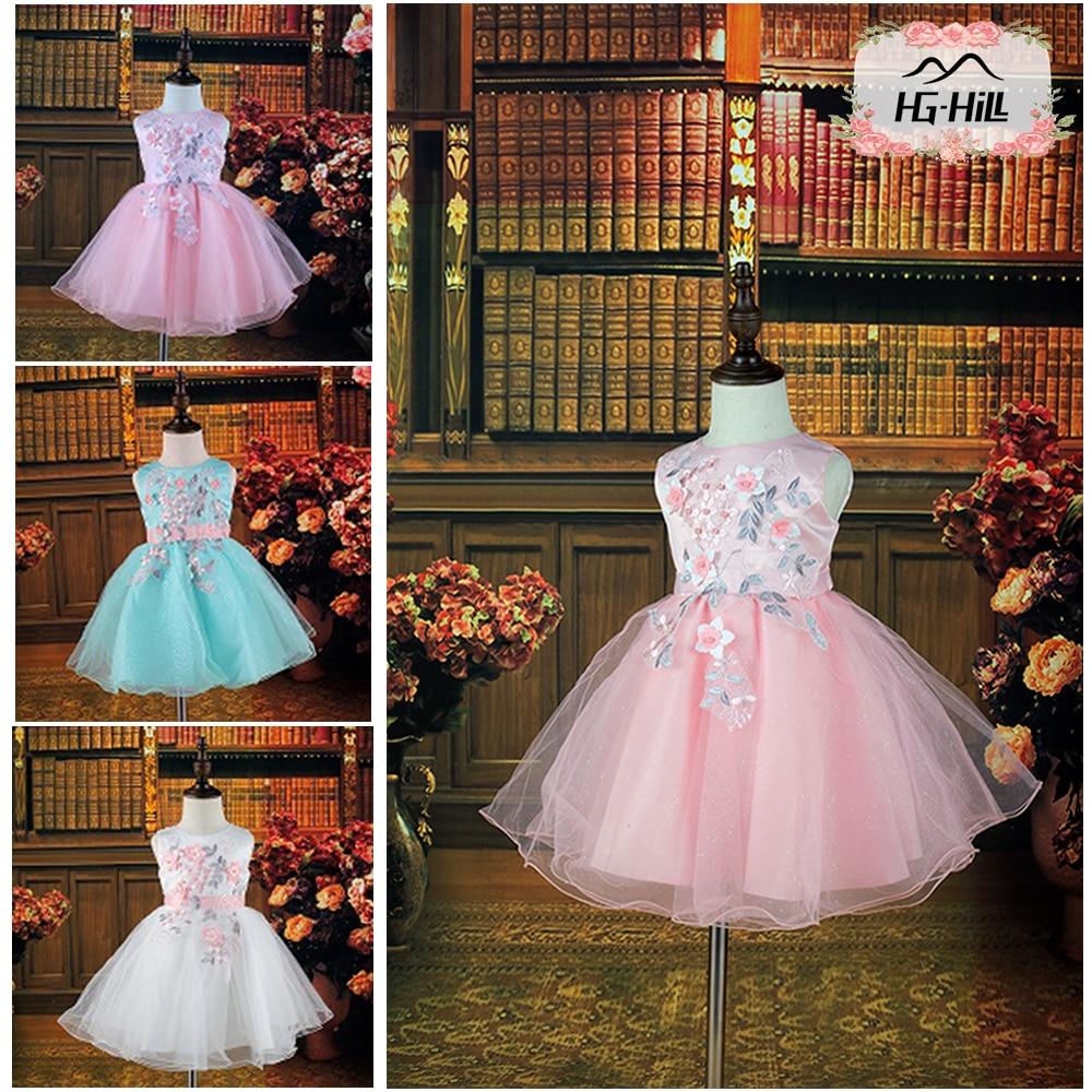 Hg Hill 8211 Princess Baby Girls Dress Children Summer Beads