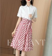 длинные полосатые рубашка платье