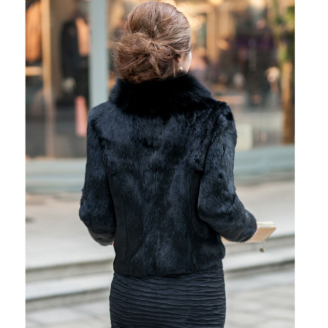 Faroonee Stylish Faux Fur Coat Thicken Warm Outwear Women Winter New Fur Jacket Coat Long Sleeve White Black Plus Size 3XL Q1600
