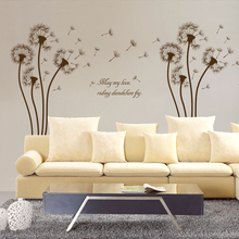 & Dandelion Plant flower Wall Sticker Wall Art Home Deco