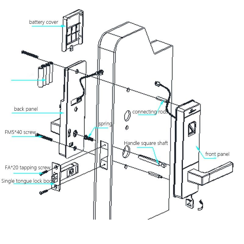 Купить с кэшбэком LACHCO Biometric Door Lock Fingerprint, 4 Cards, 2 Keys Electronic Intelligent Lock Keyless Smart Entry home office lk10FBS