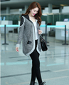 2016 Jacket women autumn hit the color gray coat flounced coat womens winter jackets and coats