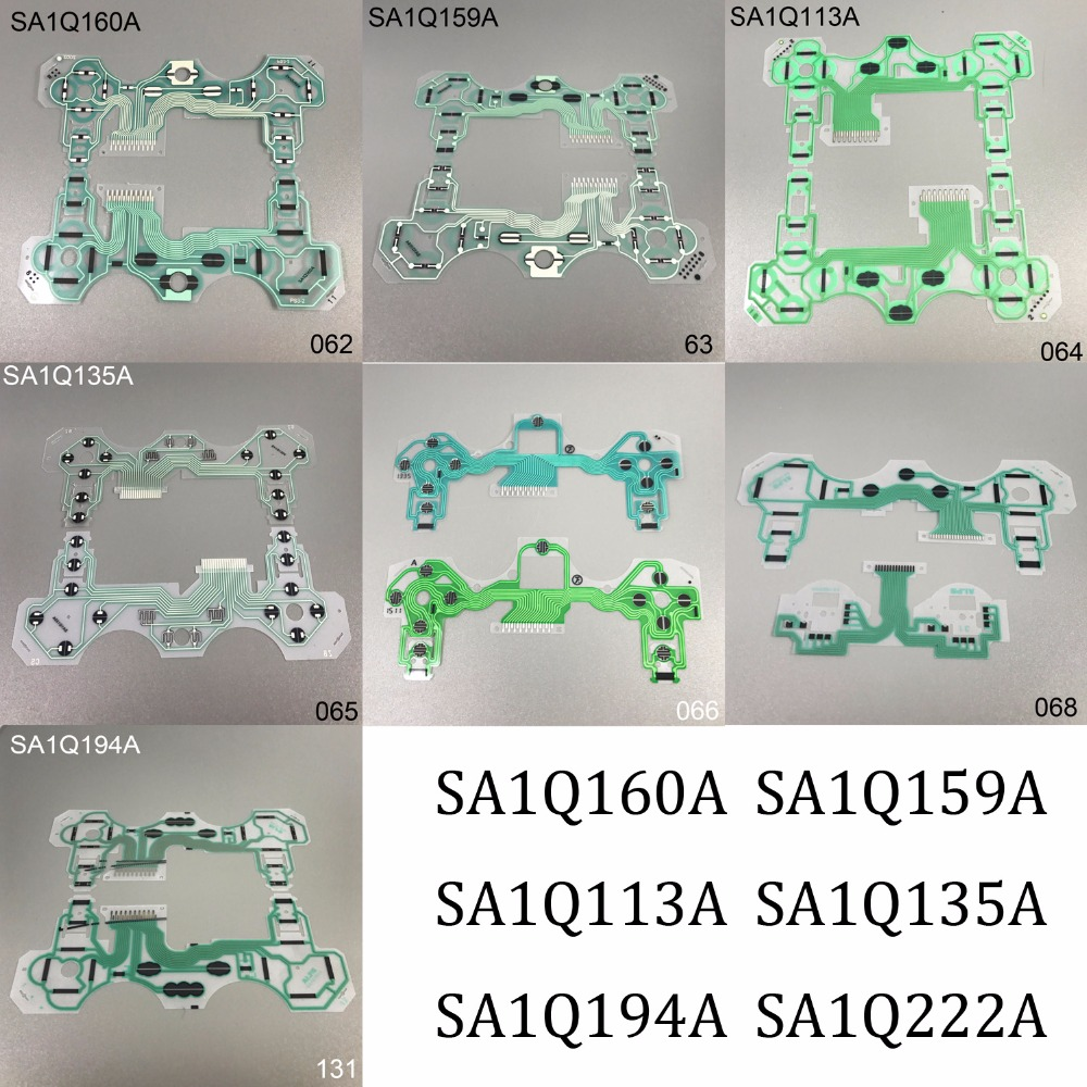 12pcs For PS2 PS3 PS4 Controller Ribbon Cable Conductive Film SA1Q160A SA1Q159A SA1Q113A SA1Q135A SA1Q194A SA1Q222A 20pcs 200pcs for sony ps3 ps2 ps4 controller philips head replacement screw set screws