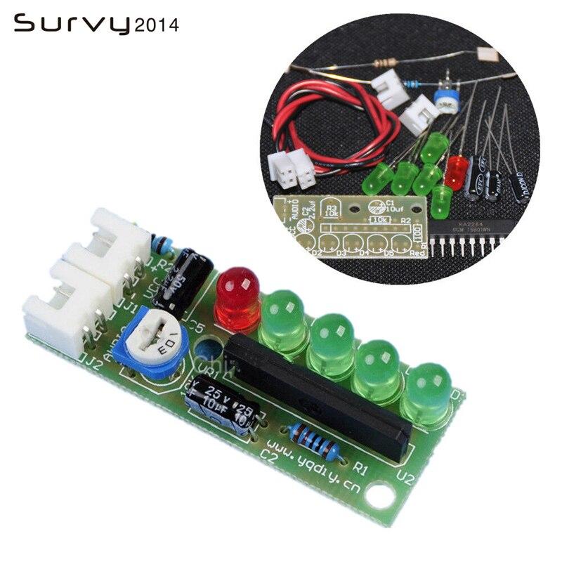 1 Set DIY Kit KA2284 Audio Level Indicator Suite Trousse Electronic Parts 5mm RED Green LED Level Indicating 3.5-12V