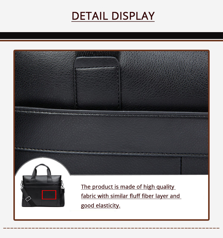 HTB1Alrkd3HqK1RjSZJnq6zNLpXaK 2020 Men's Business Black Casual Bag pu leather Briefcase men's Tote bags Brown High quality male Business large capacity