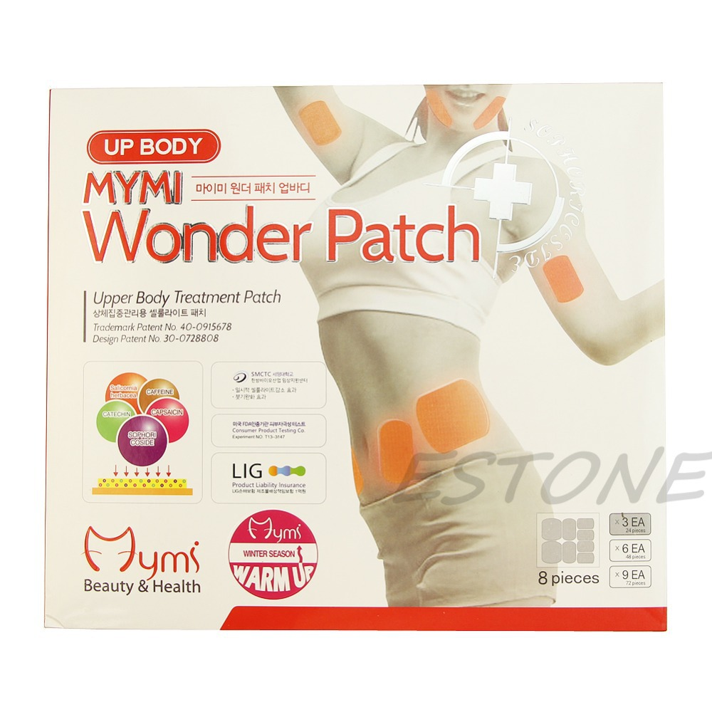 U119 Free Shipping 24pcs Wonder Slimming Patches Belly Arm Leg Fat Lose Body Exercise Patch