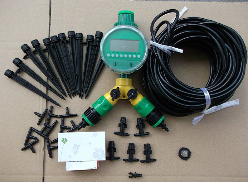 ... DIY Micro Drip U0026 Spray Irrigation System,Auto Garden Watering System  For Flowers And Vegetables ...