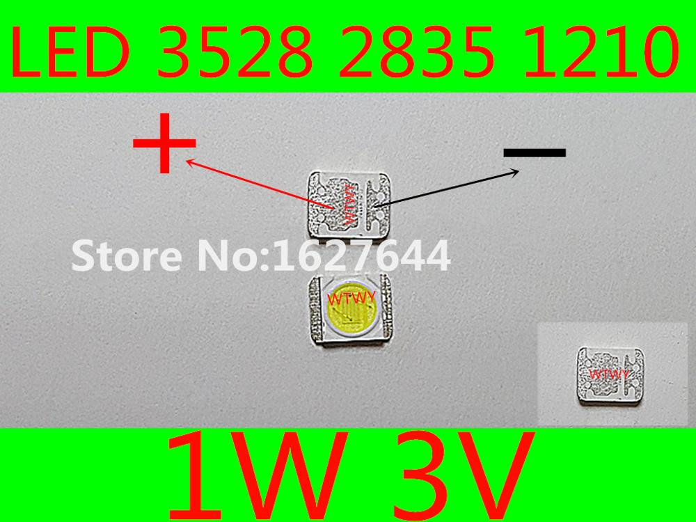 100pcs 3528 2835 SMD Lamp Beads Specially for LG LED Backlight Strip,Repair TV