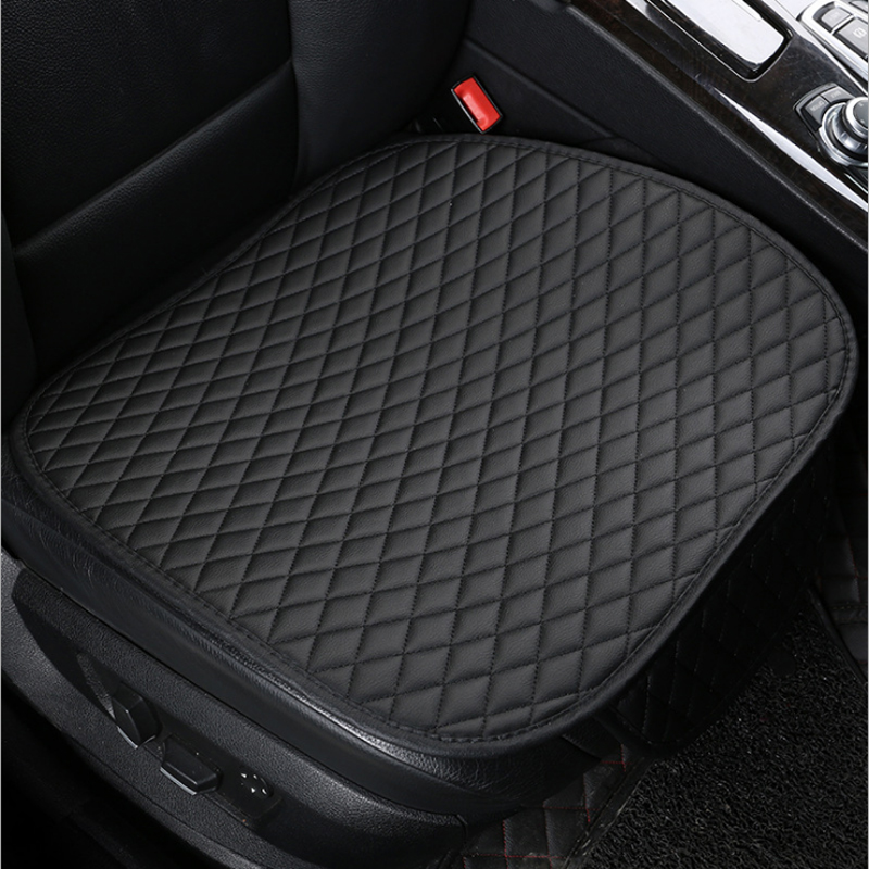 купить Universal Leather Front Car Seat Cover Cushion Four Seasons Waterproof Storage General Anti Slip Seat Protector Interior по цене 561.54 рублей