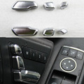 For Mercedes Benz E/GLK/ML/GL/GLS Car Interior Decoration Auto Seat adjustment button switch trim 6PCS/SET Wh