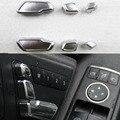 Para Mercedes Benz E/GLK/ML/GL/GLS Decoración Interior Del Coche Auto Asiento de ajuste del interruptor de botón recortar 6 UNIDS/SET Wh