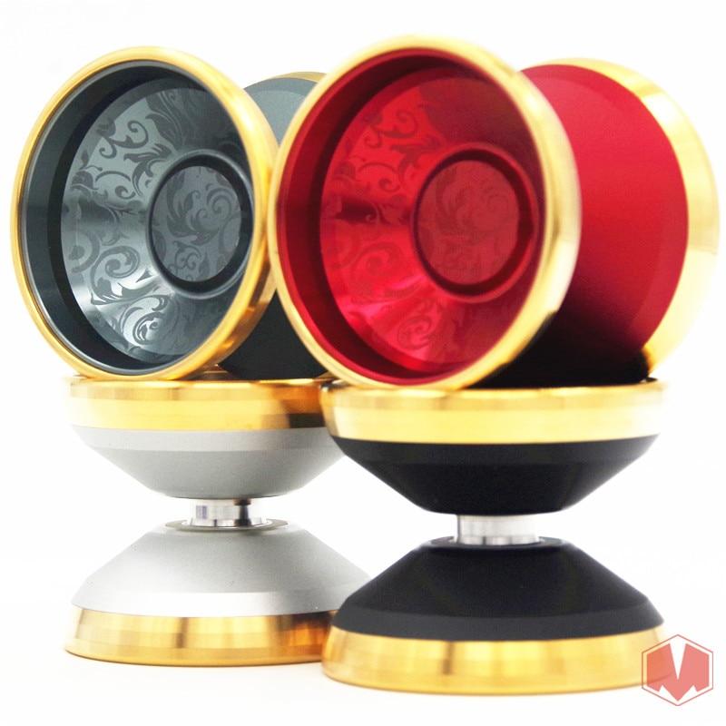 Nouveau arrivent YoYo Ace Yo L'hypocrisie Max yo-yo 24 K Or-plaqué anneau professionnel yoyo boule de Métal cadeau De Noël
