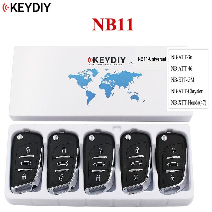 5PCS Multi functional Universal Remote Key for KD900 KD900 URG200 NB Series KEYDIY Remote for NB11