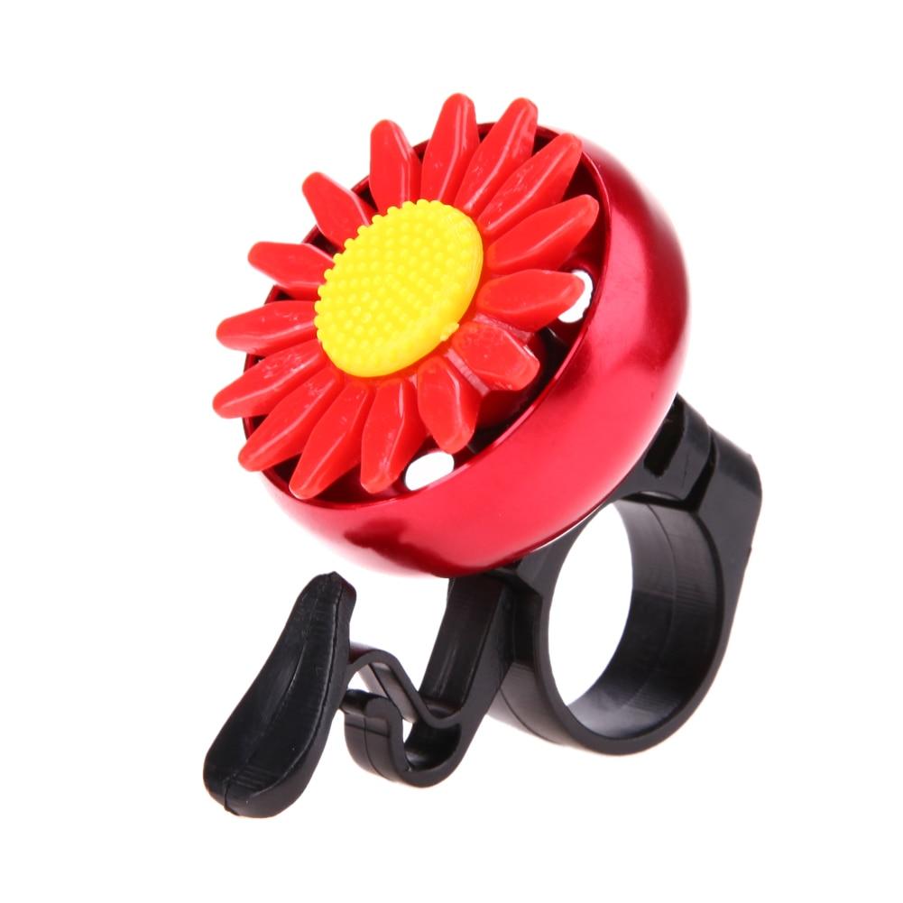 Cute Flower Bicycle Bells Loud Horn Road Bike Bicycle Handlebar Alarm Ring Horn Sound Aluminium Alloy Cycling Bell