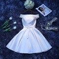 Envío Por Encargo tamaño o color Champagne Vestidos de Baile 2016 vestidos de dama de honor corta chicas Fiesta Formal de la boda más estilo