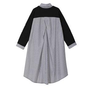 Image 2 - Novo plus size 2020 mulheres outono inverno kawaii cartoon camisa vestido gato impresso manga longa senhora casual bonito vestido midi estilo 3936