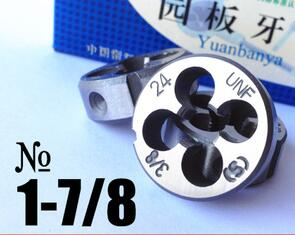 Free shipping of 1PC Alloy steel made 1-7/8-8 UN Die Threading Tools Lathe Model Engineer Thread Maker free shipping of 1pc thin pitch m35 straight flute hss6542 made machine tap for steel metal iron aluminum workpiece threading
