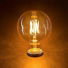 4W AC220 E27 Warm white light Retro light bulb Glass incandescent lamp for Household Living dining room and commercial use 1pcs